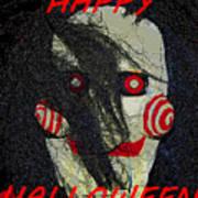 The Face Halloween Card Art Print