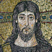 The Face Of Christ Art Print by Byzantine School