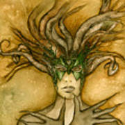 The Face Of Dryad Art Print