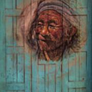 The Face Of Wisdom Art Print