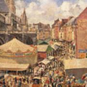The Fair In Dieppe Art Print by Camille Pissarro