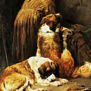 The Faith Of Saint Bernard Art Print by John Emms