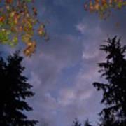 The Fall Evening Sky Art Print