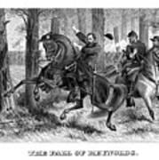 The Fall Of Reynolds - Civil War Art Print