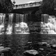 The Falls In Black And White Art Print