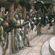 The False Witness Art Print by Tissot