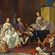 The Family Of Philip Of Parma  Art Print