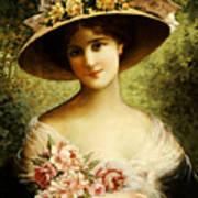 The Fancy Bonnet Art Print by Emile Vernon