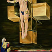 The Father Is Present -after Dali- Art Print