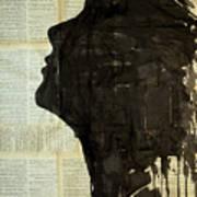 The Female Silhouette . Art Print