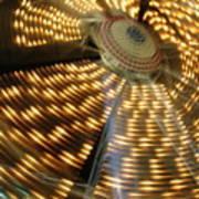 The Ferris Wheel At Night Art Print