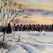 The Fields After Snow Art Print