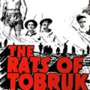 The Fighting Rats Of Tobruk  Theatrical Poster 1944 Color Added 2016 Art Print