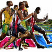 The Finish Line Art Print by Russell Pierce