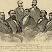 The First African American Senator Art Print by Everett