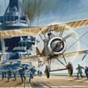 The First Deck Landing Art Print