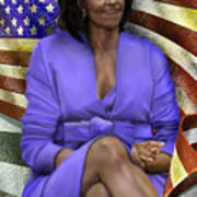 The First Lady-american Pride Art Print by Reggie Duffie