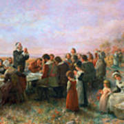 The First Thanksgiving Art Print