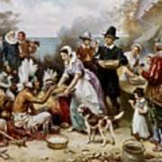 The First Thanksgiving Art Print