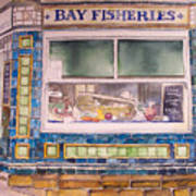 The Fish And Chip Shop Art Print