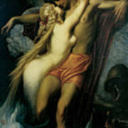 The Fisherman And The Syren Art Print