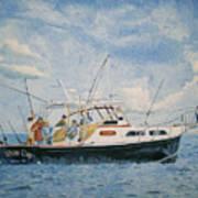 The Fishing Charter - Cape Cod Bay Art Print