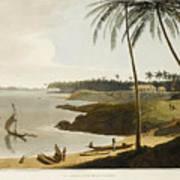The Fishing Cove Near Columbo Art Print