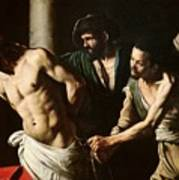 The Flagellation Of Christ Print by Caravaggio