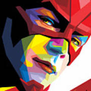 The Flash Colorful Pop Art Art Print