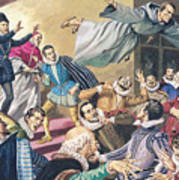 The Flight Of Father Dominic Art Print by English School