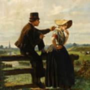 The Flirtation Art Print