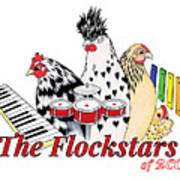 The Flockstars Art Print by Sarah Rosedahl