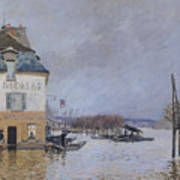 The Flood At Port Marly Print by Alfred Sisley