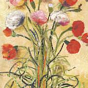 The floral dance Art Print