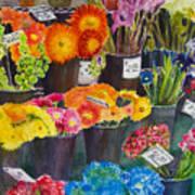 The Flower Market Art Print