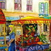 The Flowercart Art Print