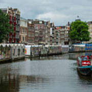 The Flowermarket Canal Art Print