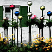 The Flowers And The Balls Art Print