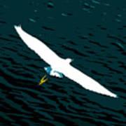 The Flying Egret Art Print