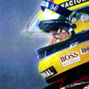 The Focus Of Ayrton Art Print