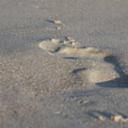 The Footprint Of Invisible Man On The Sand Art Print