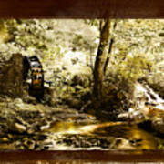 The Forgotten Watermill Wheel Art Print