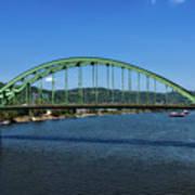 The Fort Henry Bridge - Wheeling West Virginia Art Print