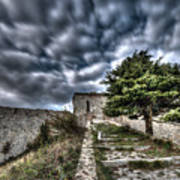 The Fortress The Tree The Clouds Art Print