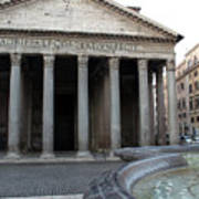 The Fountain In Front Of Pantheon Art Print