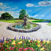 Gushing Fountain Art Print