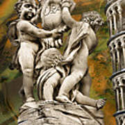 The Fountain With Angels Pisa - La Fontana Dei Art Print