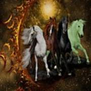 The Four Horses Of The Apocalypse Art Print