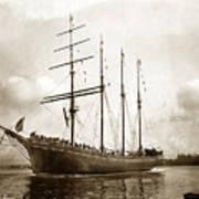 The Four-masted Barkentine  Jane Stanford Built By Hans Bendixse 1892 Art Print