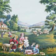 The Four Seasons Of Life Childhood Art Print